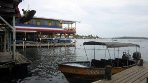 Bootsanleger in Bocas Town