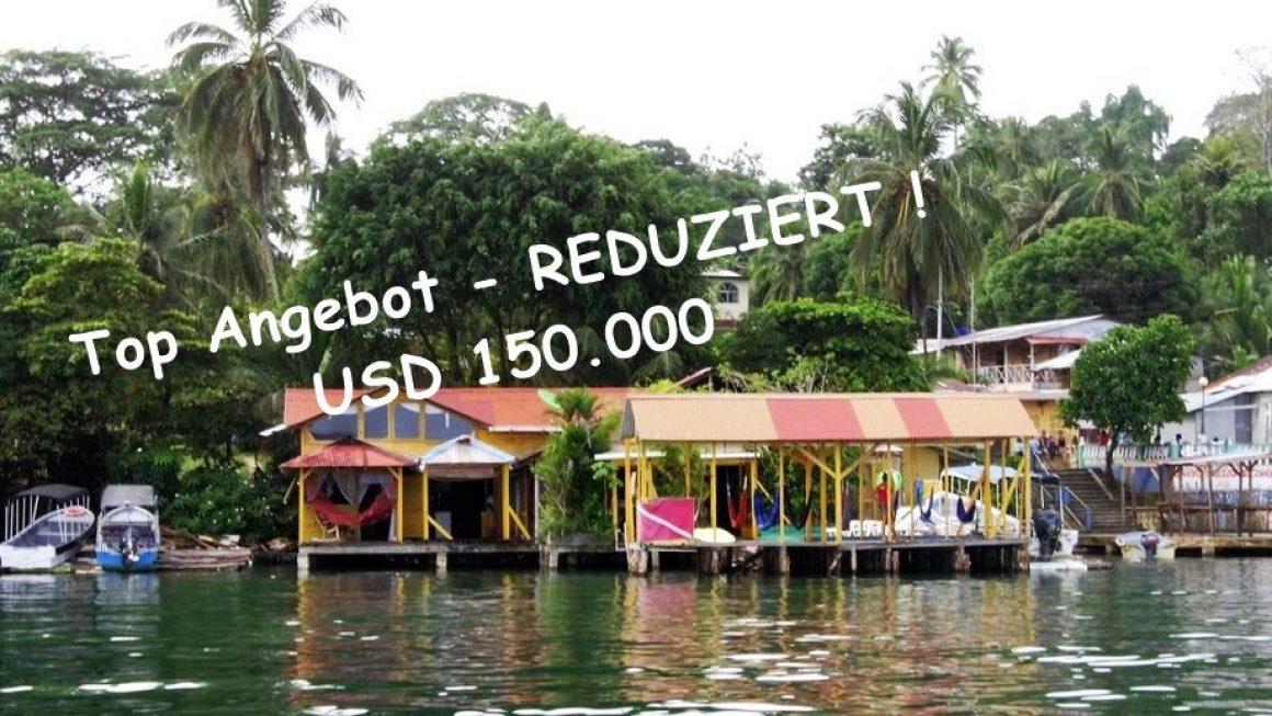 Kleine karibische Familien-Pension über dem Wasser in Bocas del Toro, Panama sucht Nachfolger !